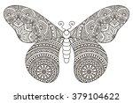 butterfly. vintage decorative... | Shutterstock .eps vector #379104622