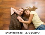 view from above of affectionate ... | Shutterstock . vector #37910890