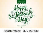 happy patrick day vintage... | Shutterstock .eps vector #379150432