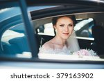close up portrait of a bride in ...   Shutterstock . vector #379163902