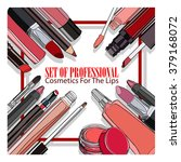 set of professional cosmetics... | Shutterstock .eps vector #379168072