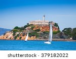 Alcatraz Prison And Yachts In...