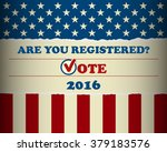 presidential election in the... | Shutterstock .eps vector #379183576