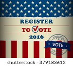 presidential election in the... | Shutterstock .eps vector #379183612