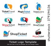 ticket logo template design... | Shutterstock .eps vector #379194136