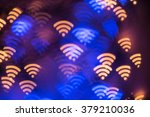 wifi symbol abstract glowing