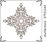 tribal tattoo set  cross  frame ... | Shutterstock .eps vector #37921144