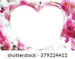heart shape photo frame... | Shutterstock . vector #379224412