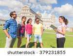 group of tourists in pisa ... | Shutterstock . vector #379231855