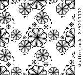 raster black and white seamless ... | Shutterstock . vector #379251112
