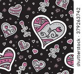 seamless vector pattern with... | Shutterstock .eps vector #379263742