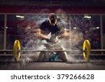 handsome weightlifter preparing ... | Shutterstock . vector #379266628