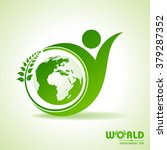 world environment day greeting... | Shutterstock .eps vector #379287352