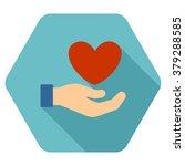 love care long shadow glyph... | Shutterstock . vector #379288585