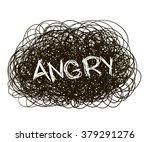 hand drawn random pen scribble... | Shutterstock .eps vector #379291276