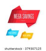 mega savings tags | Shutterstock .eps vector #379307125