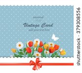 Spring Vintage Card With...