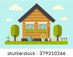vector illustration of a house... | Shutterstock .eps vector #379310266