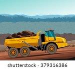 articulated dump truck at work. ... | Shutterstock .eps vector #379316386
