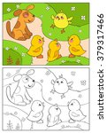 coloring book or page. a yellow ... | Shutterstock .eps vector #379317466