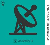satellite tv vector icon.... | Shutterstock .eps vector #379327876