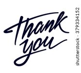 thank you hand drawn... | Shutterstock .eps vector #379334152