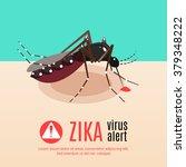 zika virus alert illustration... | Shutterstock .eps vector #379348222