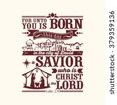 bible typographic. for unto you ... | Shutterstock .eps vector #379359136