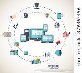 e  learning   webinar concept... | Shutterstock .eps vector #379362496