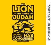 bible typographic. the lion of... | Shutterstock .eps vector #379362502