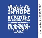Bible Typographic. Rejoice In...