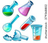 chemicals in laboratory... | Shutterstock .eps vector #379368802