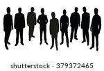 standing men silhouette vector | Shutterstock .eps vector #379372465