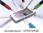 white smart phone during repair.... | Shutterstock . vector #379372936