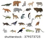 vector image of wild animals | Shutterstock .eps vector #379373725