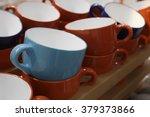 it is a set of ceramic tea cups ... | Shutterstock . vector #379373866