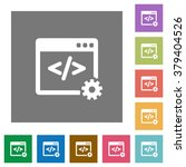 web development flat icon set...