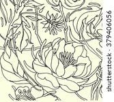 floral pattern with peony. hand ...   Shutterstock .eps vector #379406056