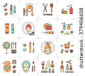 a set of colorful line icons on ... | Shutterstock .eps vector #379406608