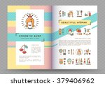 beauty banner cosmetic brochure ... | Shutterstock .eps vector #379406962