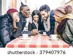 multi ethnic group of friends...   Shutterstock . vector #379407976