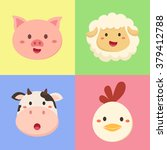 vector illustration set of farm ... | Shutterstock .eps vector #379412788