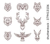 forest animals icons in trendy... | Shutterstock .eps vector #379413106