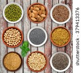 large seed super food selection ... | Shutterstock . vector #379413376