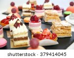 desserts with fruits, mousse, biscuits