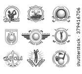 golf emblems set | Shutterstock .eps vector #379416706
