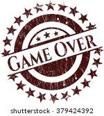 game over rubber grunge stamp