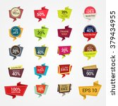 promotional badges and sale... | Shutterstock .eps vector #379434955