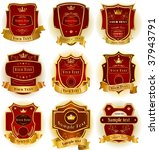 decorative labels collection | Shutterstock .eps vector #37943791