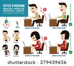 office syndrome. infographic... | Shutterstock .eps vector #379439656